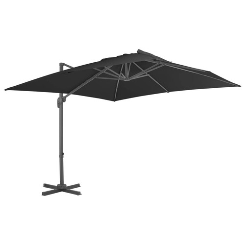 Cantilever Umbrella with Aluminium Pole 3x3 m Black