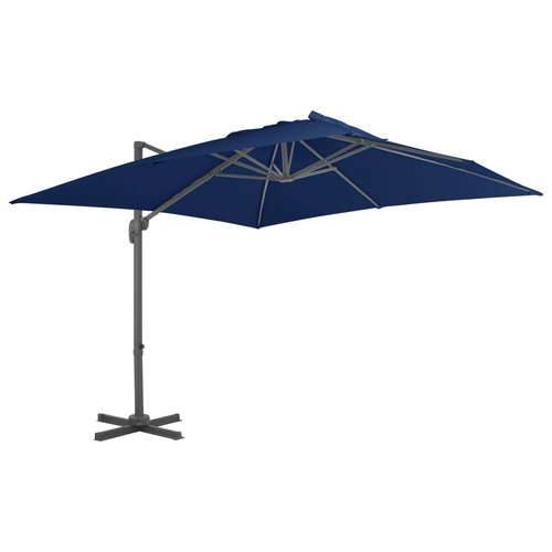 Cantilever Umbrella with Aluminium Pole 3x3 m Azure Blue