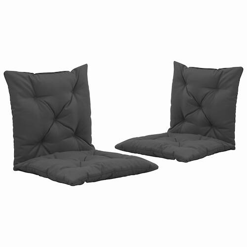 Swing Chair Cushions 2 pcs Anthracite 50 cm Fabric
