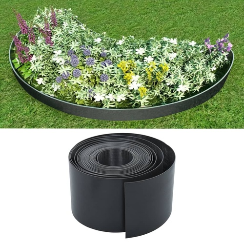 Garden Edging Grey 10 m 15 cm PE