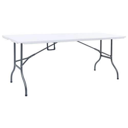 Folding Garden Table White 180x72x72 cm HDPE