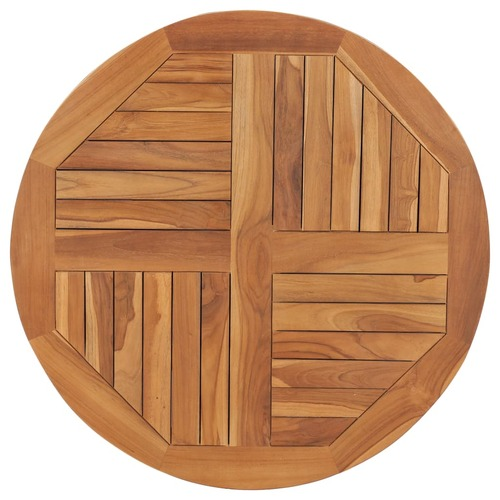 Table Top Solid Teak Wood Round 2.5 cm 80 cm
