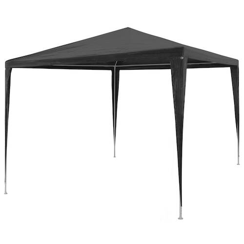 Party Tent 3x3 m PE Anthracite