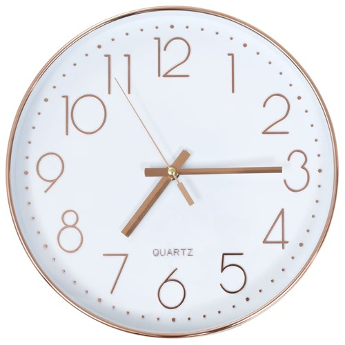 Wall Clock 30 cm Rose Gold