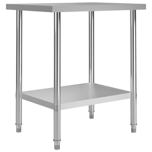Kitchen Work Table 80x60x85 cm Stainless Steel