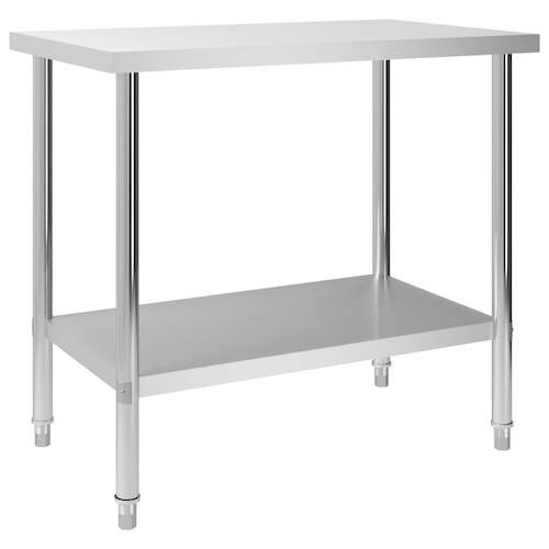 Kitchen Work Table 100x60x85 cm Stainless Steel