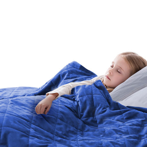 Kids Weighted Blanket Deep Relax Sleeping Blue