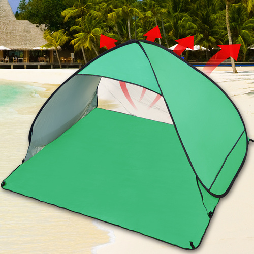 Pop Up Portable Beach Canopy Sun Shade Shelter Tent Green