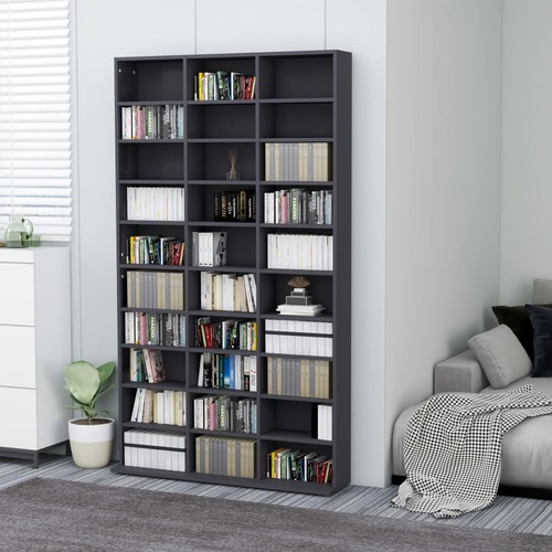 CD Cabinet Grey 102x16x177,5 cm Chipboard