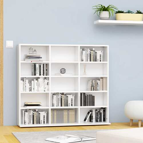 CD Cabinet White 102x16x89,5 cm Chipboard