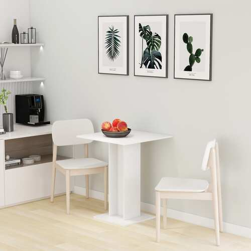 Bistro Table White 60x60x75 cm Chipboard