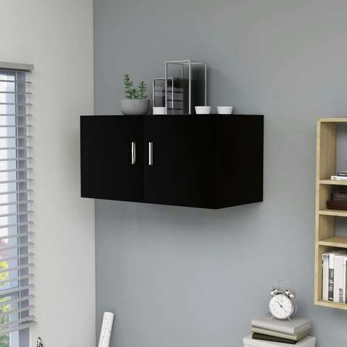Wall Mounted Cabinet Black 80x39x40 cm Chipboard