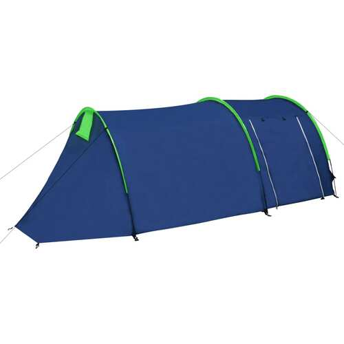 Camping Tent 4 Persons Navy Blue/Green