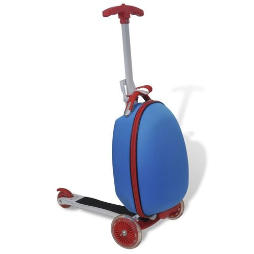 Scooter with Trolley Case for Children Blue