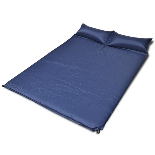 Blue Self-inflating Sleeping Mat 190 x 130 x 5 cm (Double)