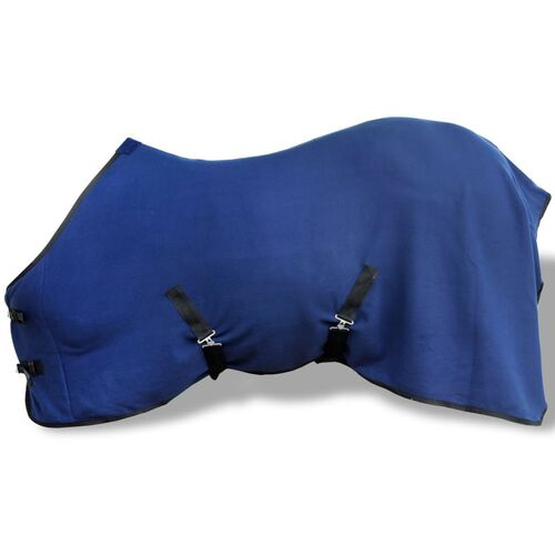 Fleece Rug with Surcingles 125 cm Blue