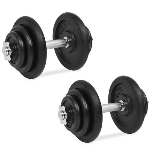 18 Piece Dumbbell Set 40 kg Cast Iron