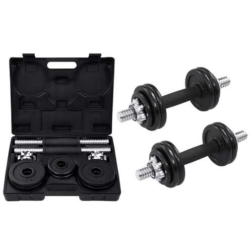 19 Piece Dumbbell Set 15 kg Cast Iron