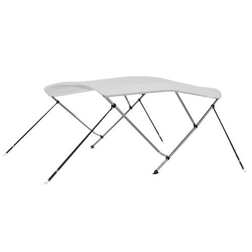 3 Bow Bimini Top White 183x180x140 cm