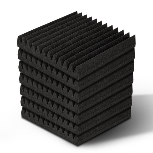 Set of 20 12 Tooth Acoustic Foam - Black