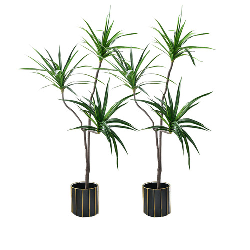 2X 180cm Green Artificial Indoor Brazlian Iron Tree Fake Plant Decorative 3 Heads