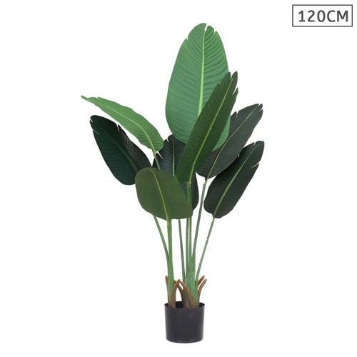 120cm Artificial Green Indoor Traveler Banana Fake Decoration Tree Flower Pot Plant