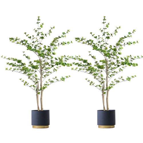 2X 150cm Green Artificial Indoor Watercress Tree Fake Plant Simulation Decorative