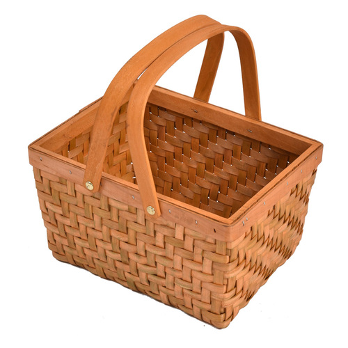 Picnic Basket Wicker Baskets Outdoor Deluxe Gift Storage Person Storage Carry