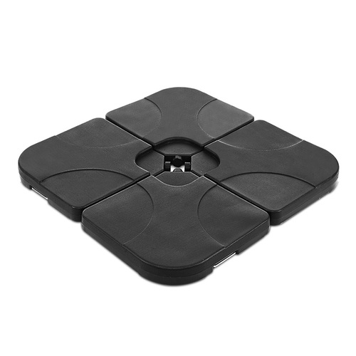 Instahut Set of 4 Umbrella Base Set Black