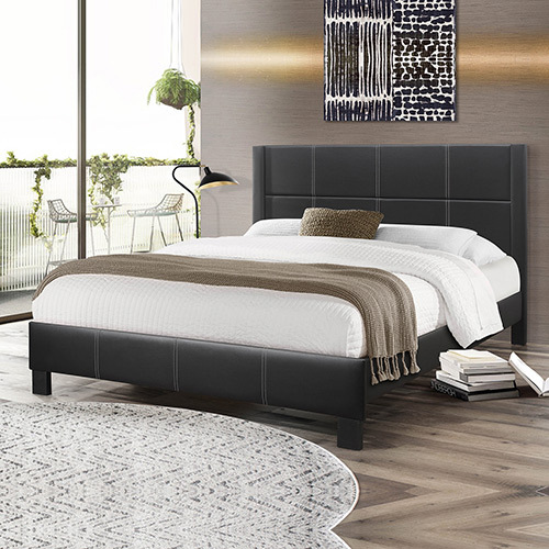 Albany Bedframe Queen Size Black