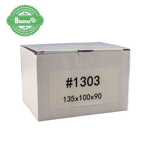 100x 135mm x 100mm x 90mm White Carton Cardboard Shipping Box (#1303)
