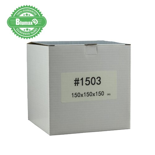 100x 150mm x 150mm x 150mm White Carton Cardboard Shipping Box (#1503) for 5KG Sachel