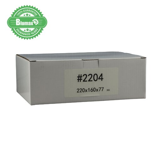 100x 220mm x 160mm x 77mm White Carton Cardboard Shipping Box (#2204) for 3KG satchel