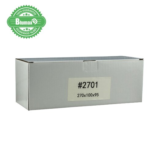 100x 270mm x 100mm x 95mm White Carton Cardboard Shipping Box (#2701)