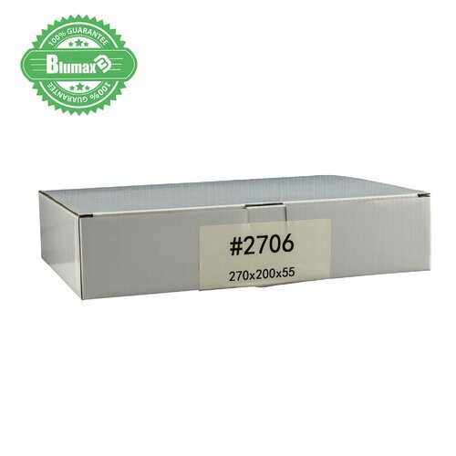 100x 270mm x 200mm x 55mm White Carton Cardboard Shipping Box (#2706)