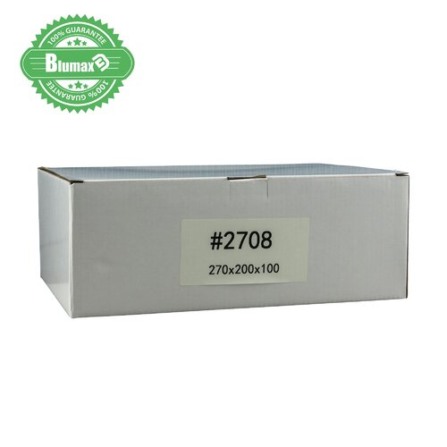100x 270mm x 200mm x 100mm White Carton Cardboard Shipping Box (#2708)