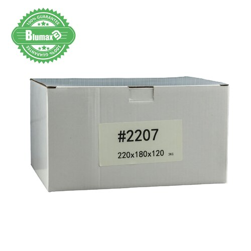 100x 220mm x 180mm x 120mm White Carton Cardboard Shipping Box (#2207) for 3KG Satchel