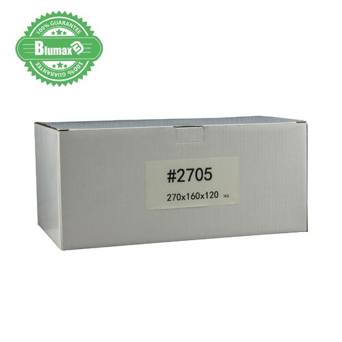 100x 270mm x 160mm x 120mm White Carton Cardboard Shipping Box (#2705) for 3KG Satchel