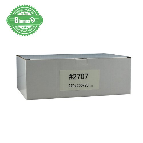 100x 100mm x 75mm x 50mm White Carton Cardboard Shipping Box (#2707) for 3KG satchel