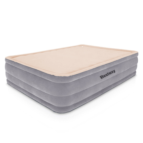 Bestway Queen Size Inflatable Air Mattress - Grey & Beige
