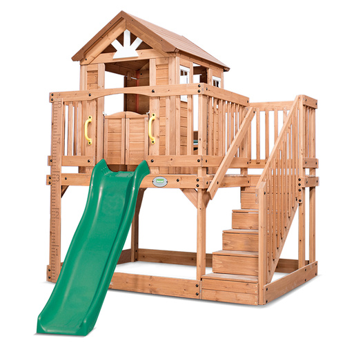 Scenic Heights Cubby House with LK33 1.8m Slide