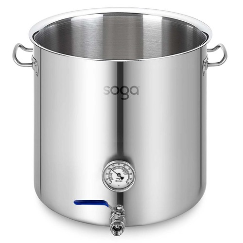 Stainless Steel 33L No Lid Brewery Pot With Beer Valve 35*35cm