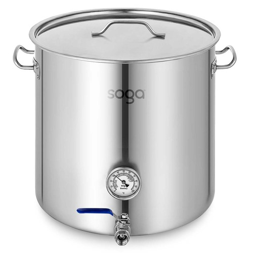 Stainless Steel Brewery Pot 33L With Beer Valve 35*35cm