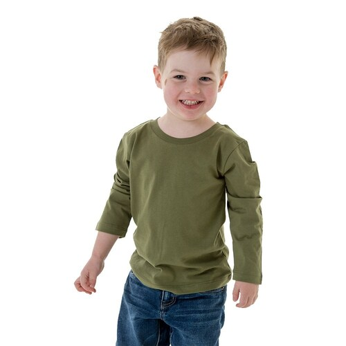 B2 - Childrens Long Sleeve T-Shirt - Khaki, 2