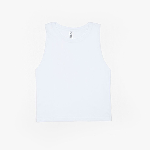 B3 - Youth Muscle Tank - White, 7