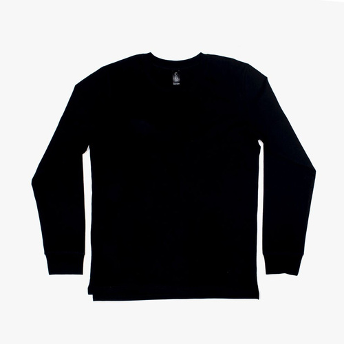 M6 - Mens Long Sleeve with Cuffs - Black, XL