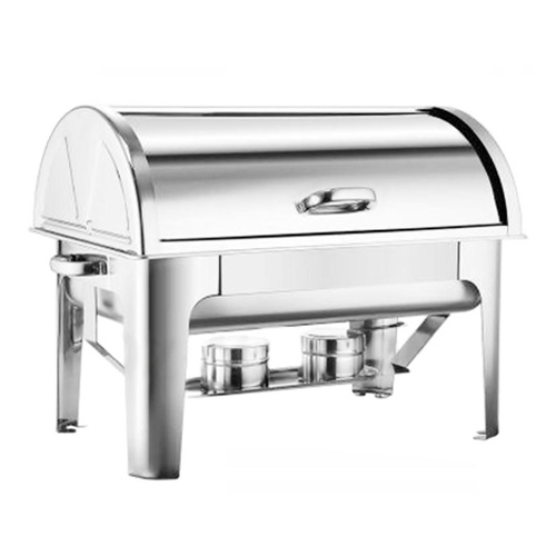 4.5L Dual Tray Stainless Steel Roll Top Chafing Dish Food Warmer