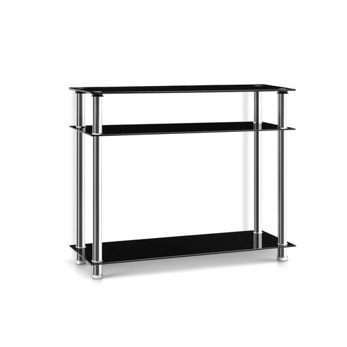 Artiss Entry Hall Console Table - Black & Silver