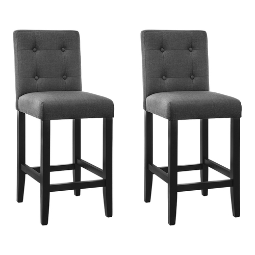 Set of 2 French Provincial Dining Chair - Charcoal