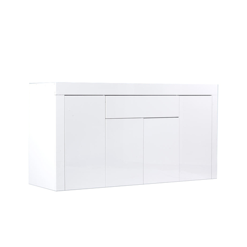 Levede Buffet Sideboard Cabinet High Gloss Storage Modern Doors Cupboard White